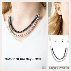 Colour of the day Blue Necklace